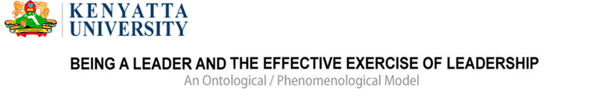 Being a Leader and the Effective Exercise of Leadership logo